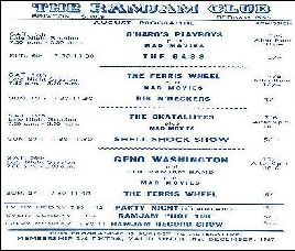 Program klubu Ram Jam